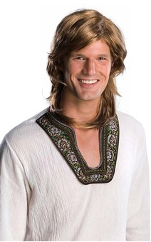 70's Guy Adult Wig- Brown