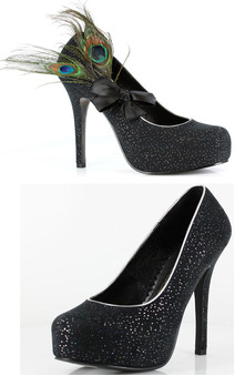 "Peacock Sparkle 5 High Heel Adults Shoes"",69.99"""