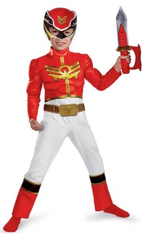 Red Power Ranger Megaforce Muscle Chest Toddler/child Costume