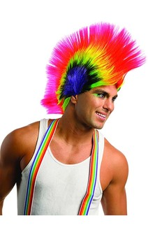 Rave Punk Mohawk Adult Wig