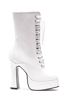 White Dolly Ankle Lace Up Boots Adult Shoes