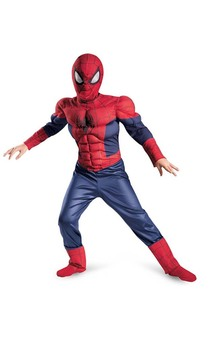 Child Boys Ultimate Spider-man Muscle