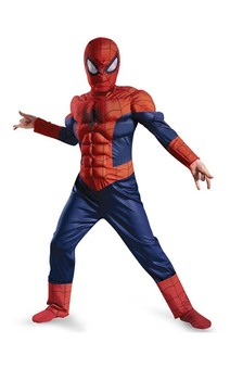 Ultimate Spider-man Muscle Light Up Kids Costume