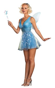 Blue Light Sexy Fairy Adult Costume