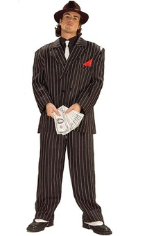 1920's Gangster Pin Stripped Adult Suit