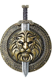 Gladiator Combat Shield & Sword 18 Inches
