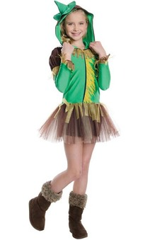 Scarecrow Wizard Of Oz Tutu Hoodie Child Costume