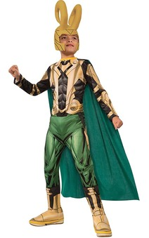 Loki Thor Child Avengers Villain Costume