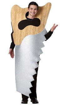Hardware Saw Adult Construction Costume