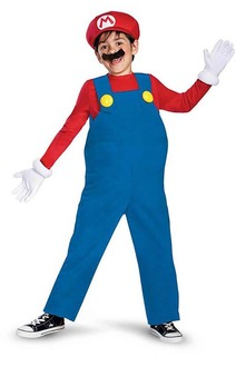 Deluxe Mario Child Mario Bros Costume
