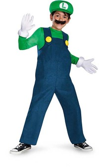 Deluxe Luigi Child Mario Bros Costume