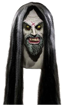 Corpse Maker Scary Halloween Mask with Hair