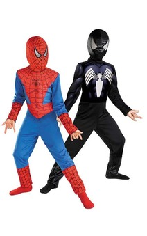 Spiderman Reversible Red Black Child Costume