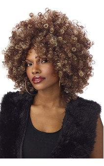 Whitney Houston Fine Foxy Fro Adult Wig