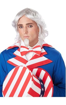 Uncle Sam Adult Wig & Chin Patch