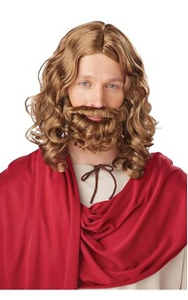 Jesus Wig & Beard Adult