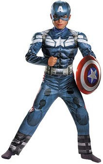 Captain America Deluxe Avengers Muscle Child Costume