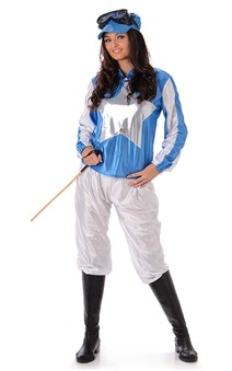 Adult Womens Jockey Silks Horse Racing Costume