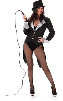 Black Ringmaster Adult Circus Costume