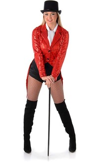 Red Sequin Showgirl Costume Jacket