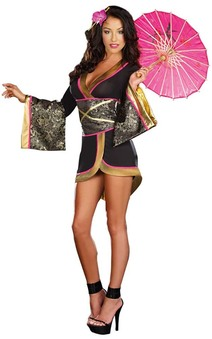 Asian persuasion Geisha Kimono Japanese Adult Costume