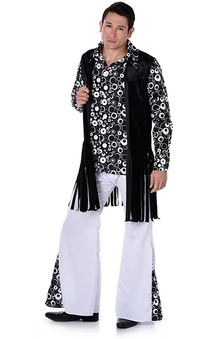 Monochrome Hippie Guy Adult 1960s Costume