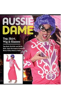 Aussie Dame Edna Everage Adult Drag Costume