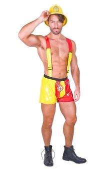 Sexy Firefighter Adult Mardi Gras Costume