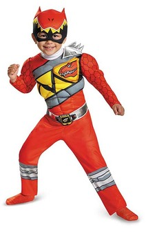 Red Power Ranger Dino Charge Toddler Child Costume