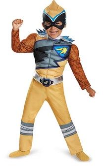 Gold Power Ranger Dino Charge Toddler Child Costume