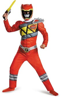 Red Power Rangers Dino Charge Muscle Child Costume