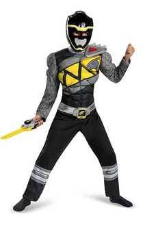 Black Power Ranger Dino Charge Child Muscle Costume