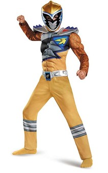 Gold Power Ranger Dino Charge Child Muscle Costume