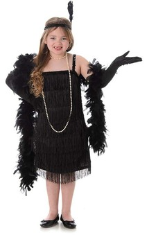 Black Flapper Child Gatsby Costume