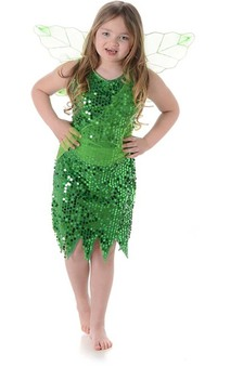 Tinkerbell Green Fairy Child Costume