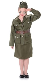 Army Girl Child Costume
