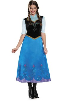 Deluxe Princess Anna Frozen Adult Costume
