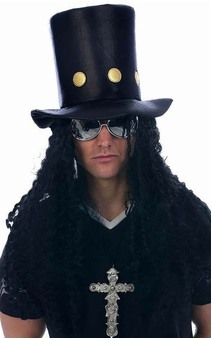 Guitar Superstar Slash Guns N Roses Adult Hat Wig