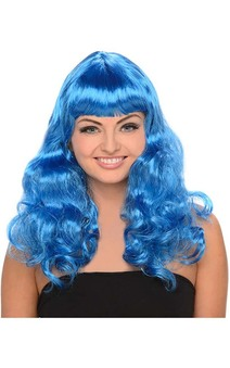 Katy Perry Blue Curly Wig