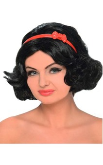 Snow White Adult Wig And Headband