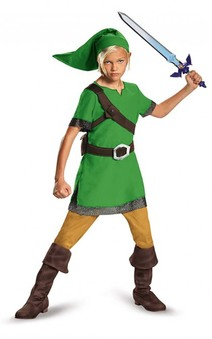 Link Legend Of Zelda Child Nitendo Elf Costume