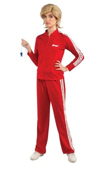 Sue Glee Red Tracksuit Adult Costume