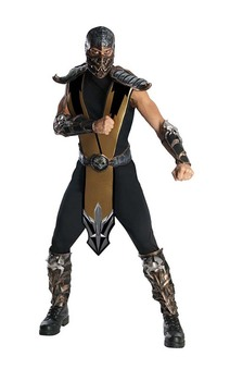 Scorpion Mortal Kombat Deluxe Adult Costume