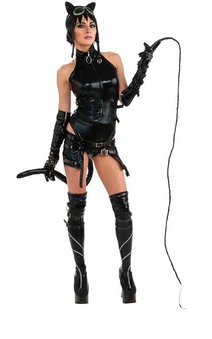 Anime Cosplay Catwoman Batman Dominatrix Adult Costume