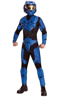 Deluxe Blue Spartan Halo Adult Costume