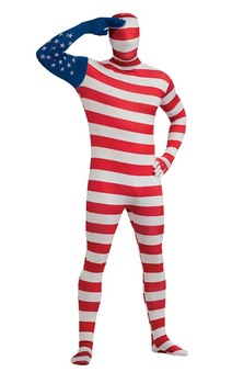USA Flag 2nd Second Skin Bodysuit Adult Costume