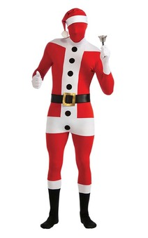 Santa Claus 2nd Skin Suit Adult Costume
