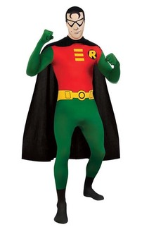 Robin 2nd Second Skin Bodysuit Adult Batman Costume