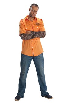 Prisoner Convict Shirt Tattoo sleeves Adult Costume