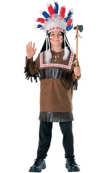 Cherokee Indian Warrior Chief Child Costume